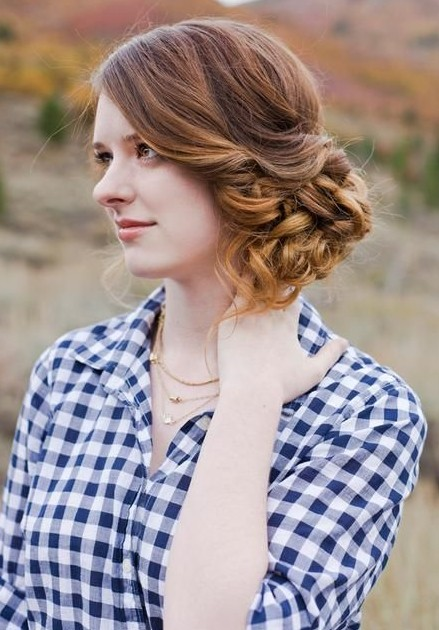 2014 Updo Hairstyles: Messy Side Updos