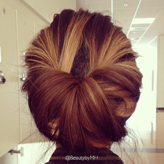 2014 Updo Hairstyles: Simple updos for medium length hair