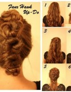 2014 Updo Hairstyles for Homecoming: Faux Hawk Updos
