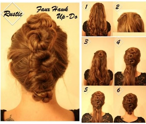 Astounding Updo Hairstyles For Homecoming Faux Hawk Updos Tutorial Popular Hairstyles For Men Maxibearus