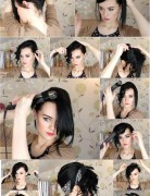 Bandana Updo Tutorial: Images and Videos