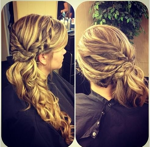 Cool Braided Side Ponytail With Curls Braids Short Hairstyles Gunalazisus