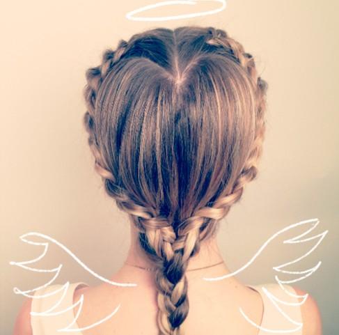 Braided Hairstyles: Cute Heart Braid Designs