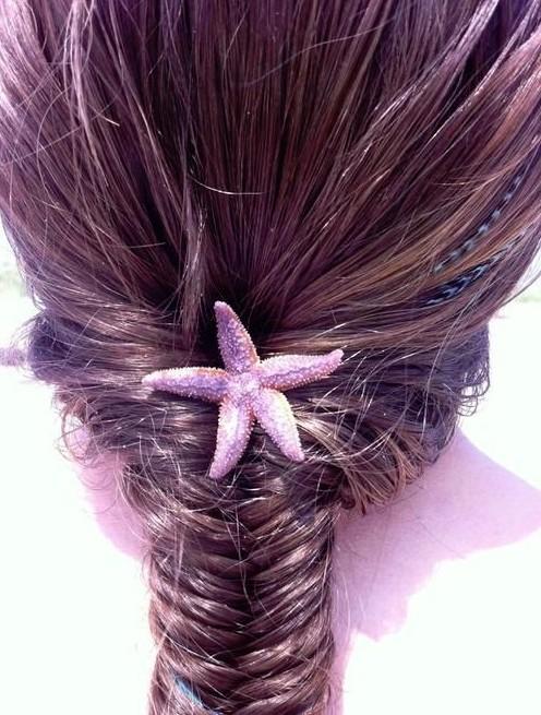 Braided Hairstyles: Fishtail French Braid
