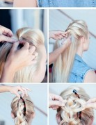 Braided Updo Hair Styles Tutorial: Faux Hawk Updos