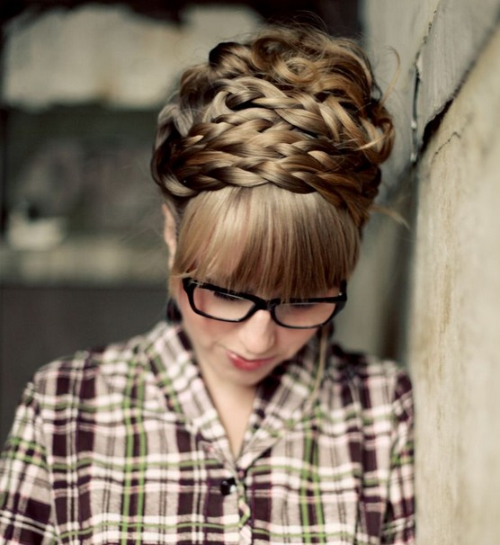 Braids Updo Hairstyle Tutorial: How To Style Maiden Braids