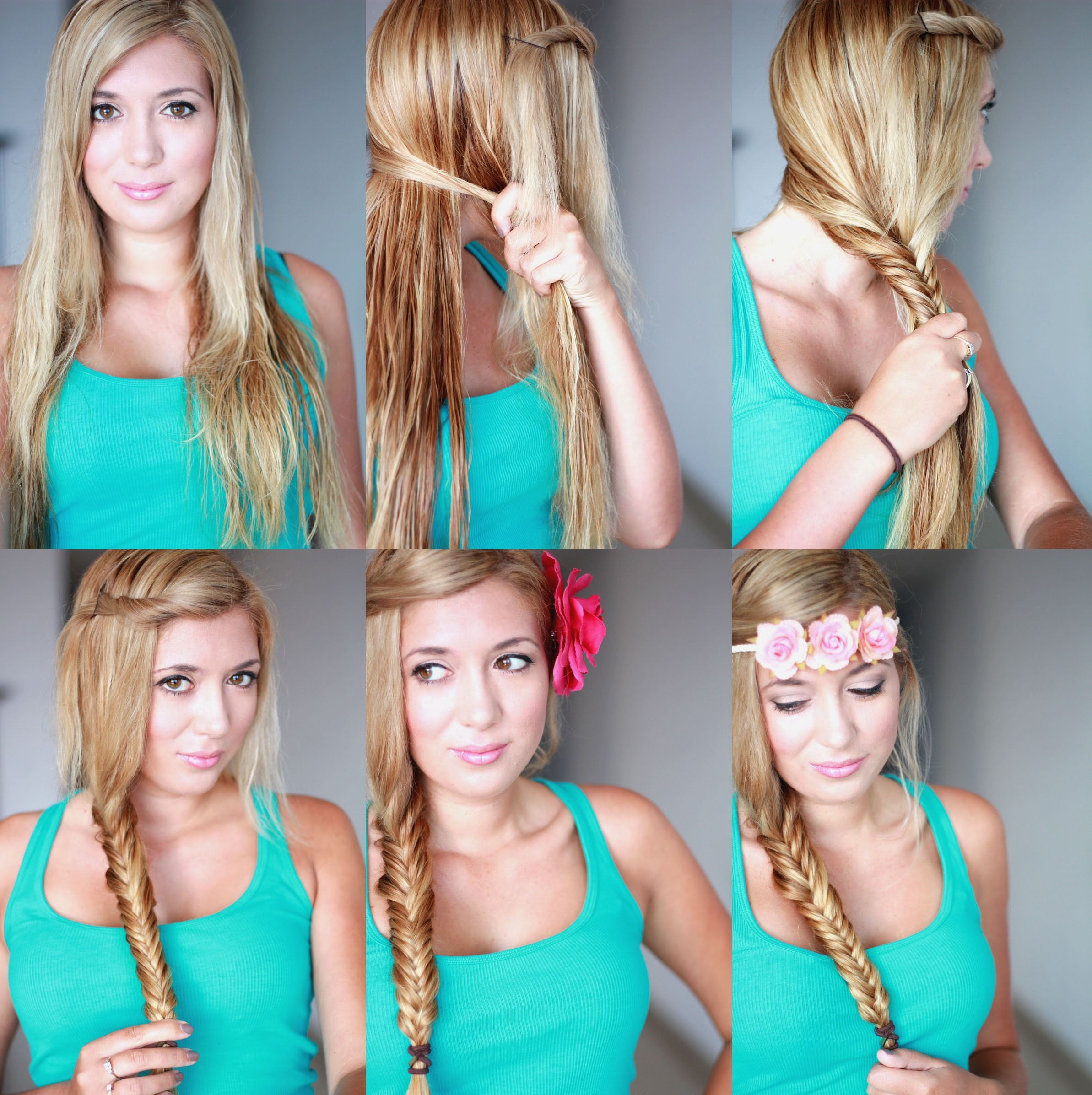 Terrific Cute Braided Hairstyle Tutorial For Girls How To Fishtail Braid Hairstyle Inspiration Daily Dogsangcom