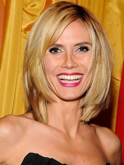 Heidi Klum Hairstyles: Bob Haircut with Side Bangs