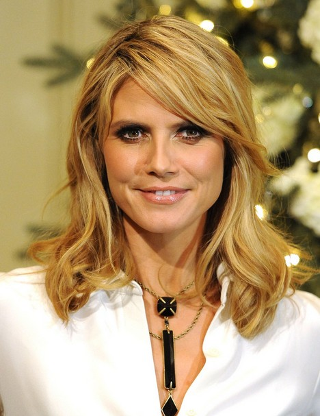 Heidi Klum Hairstyles: Layered Waves