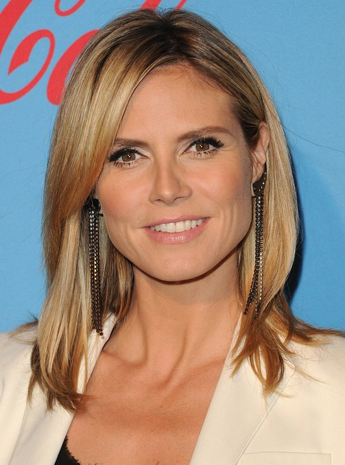 Heidi Klum Hairstyles: Medium Straight Haircut