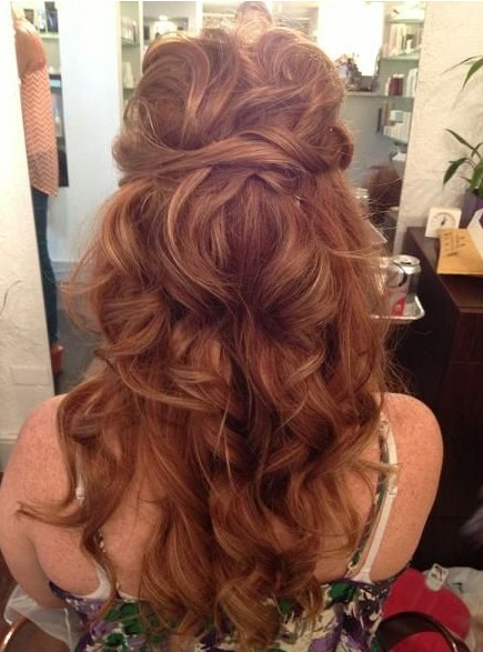 Attractive Long Curly Hairstyles 2014: Tied Up Hairstyles For Long Curly Hair