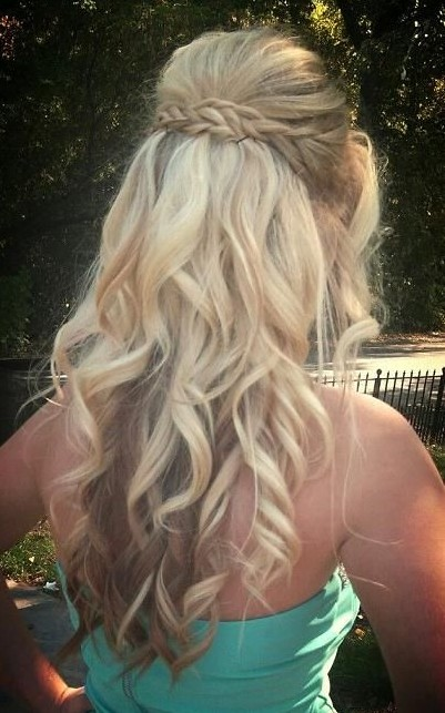 Phenomenal Braid And Curls Hairstyles For Prom Best Hairstyles 2017 Hairstyles For Men Maxibearus