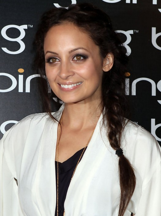Nicole Richie Hairstyles: Loose Messy Side Braid