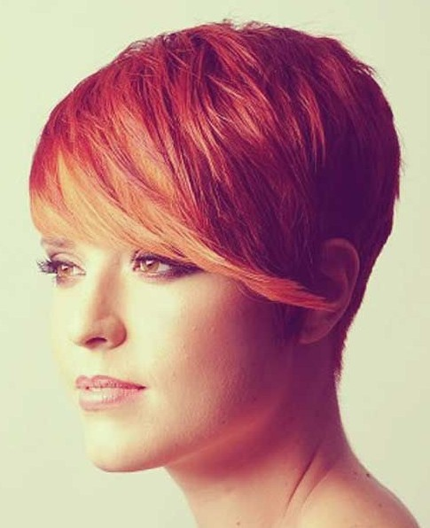 Pixie Haircuts: Short Hair with Long Bangs : Source