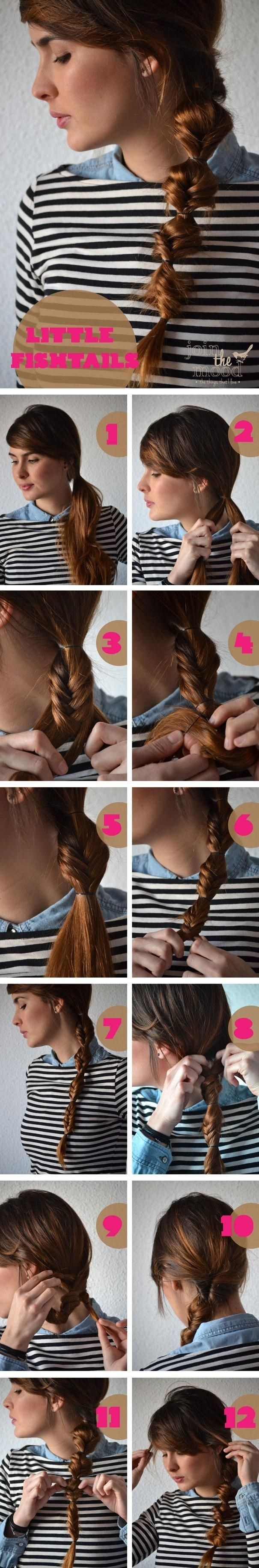 Ponytails Hairstyles Tutorials: Little Fish Ponytails