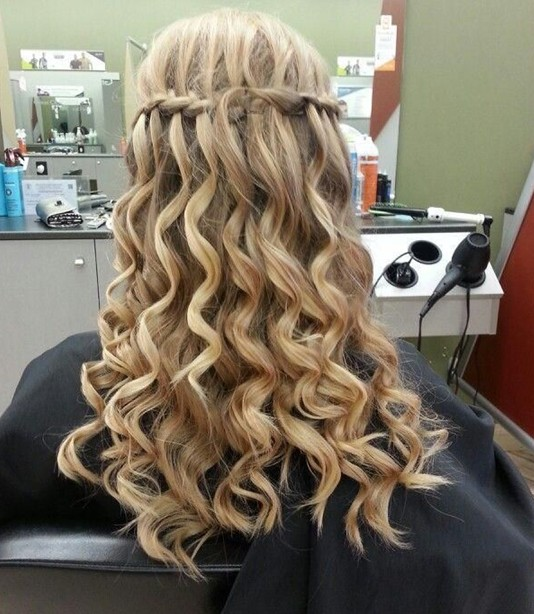 Swell Braid And Curls Hairstyles For Prom Best Hairstyles 2017 Short Hairstyles For Black Women Fulllsitofus