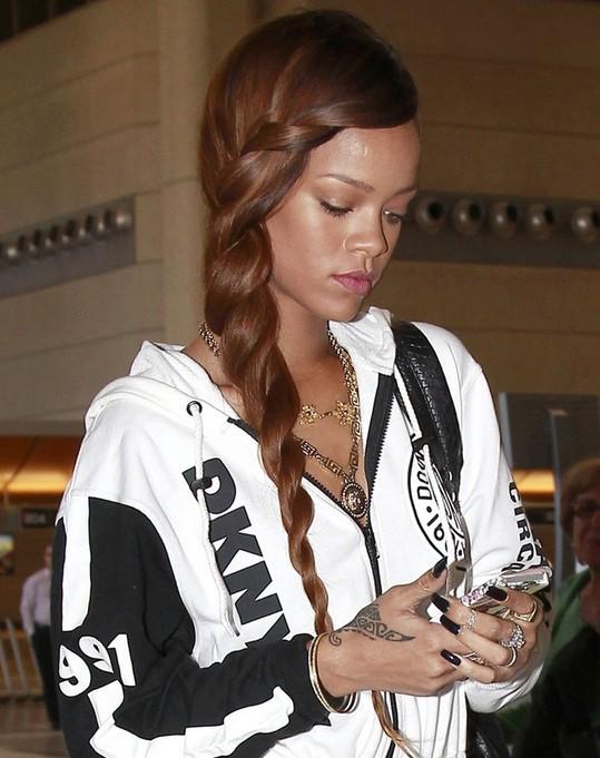 Rihanna Hairstyles: French Twist Braid for Long Hair