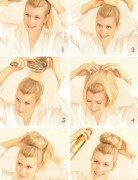 Sock Bun Tutorial for Long Hair: High Bun Updos