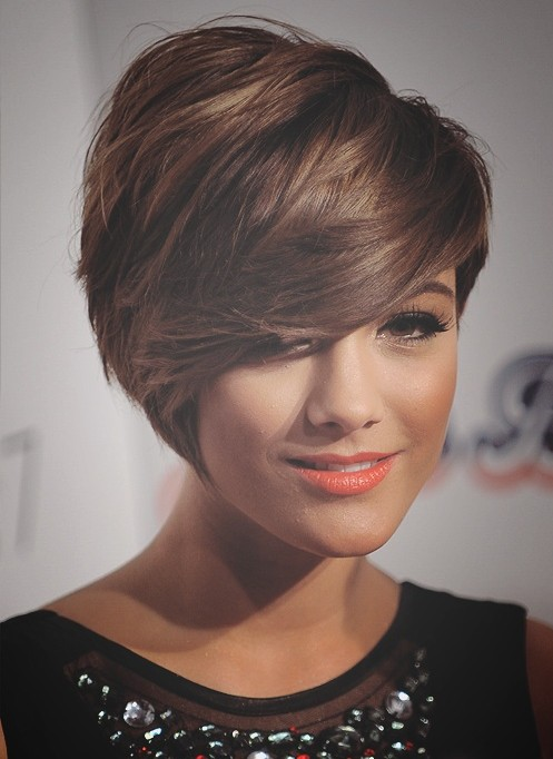 Trendy Short Hairstyles: Chic Short Haircuts with Side Swept Bangs