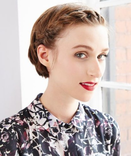 Trendy Short Hairstyles: Short Hair with Braids