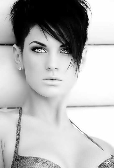 Trendy Short Hairstyles: Short Hair with Long Bangs