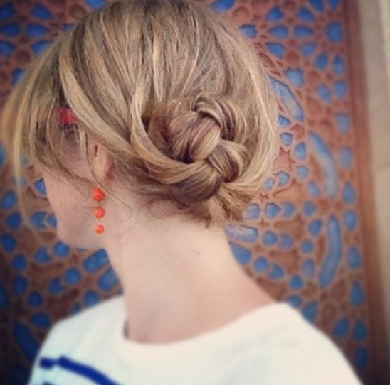 Updo Hairstyles for Short Hair: Braided Bun Hairstyle
