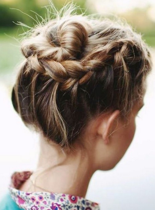 Fancy Hairstyles For Short Hair Braids Short Hair Braids Updos