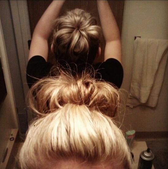 Updo Hairstyles for Short Hair: Fun Sock Bun