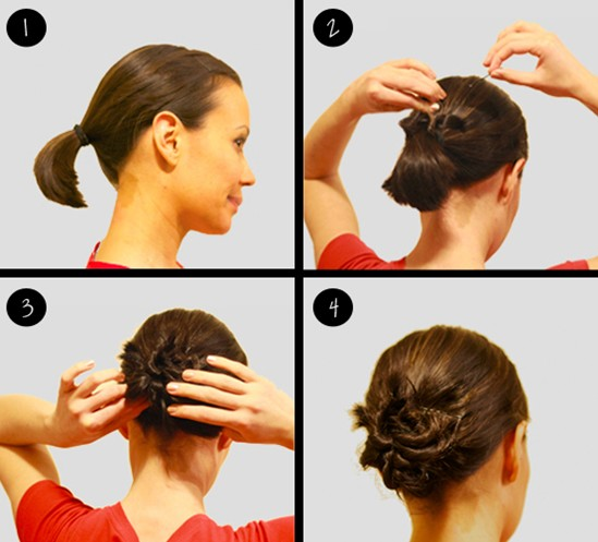 Updo Hairstyles for Short Hair: Twisty Bun
