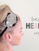 Updos Tutorial: Beaded Headband Updo Hairstyle for Prom