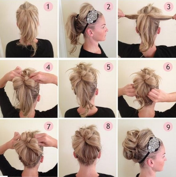 Updos Tutorial: Beaded Headband Updo Hairstyles for Prom