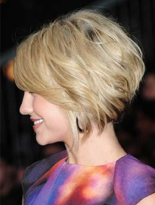 Short Hairstyles for Winter: Trendy Stacked Bob / Source