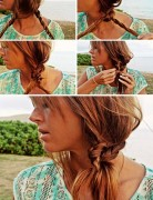 Beach Hairstyle Ideas: Knotted Braid Side Ponytail Hairstyle Tutorial