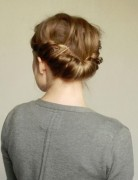 Double Braid Hairstyles Tutorial:Updos for Medium Hair