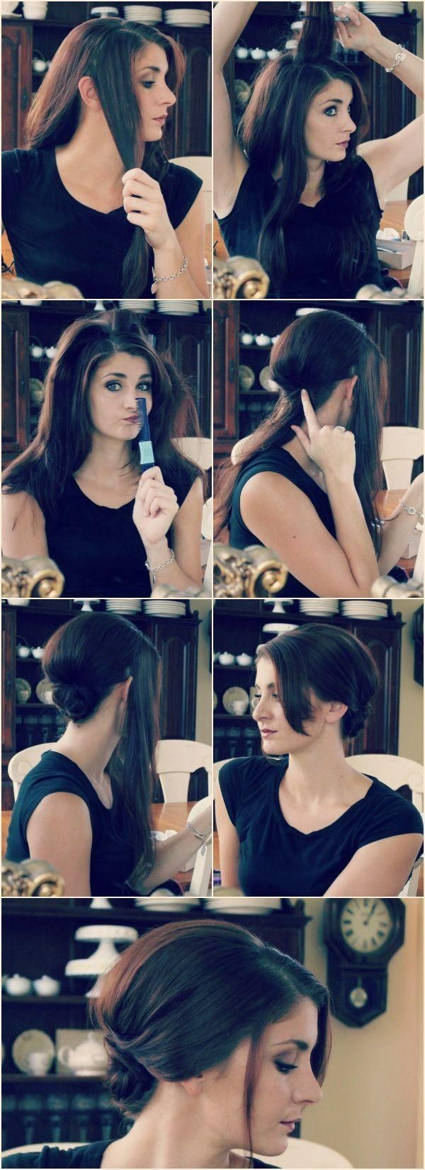 Easy Chignon Updo Tutorial: Everyday Hairstyles for Women - PoPular Haircuts