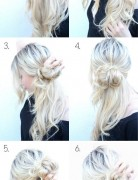Easy Messy Bun Updos Tutorial: Cute Hairstyles