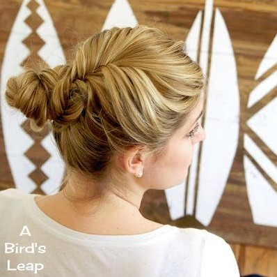 Fishtail Braided Bun Hairstyle Tutorial: Girl Hairstyles for Long Hair