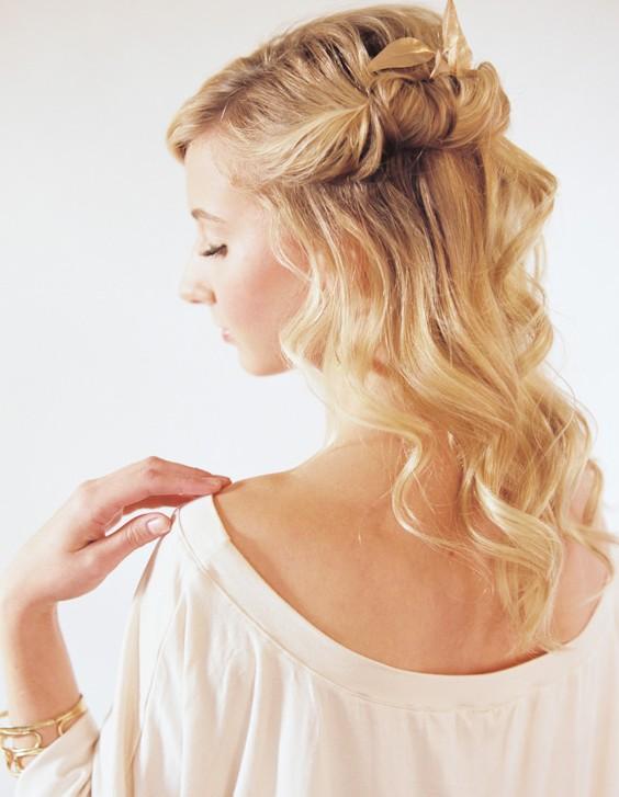 Half Up Half Down Hairstyles Tutorial- Loose Long Hairstyle - PoPular Haircuts