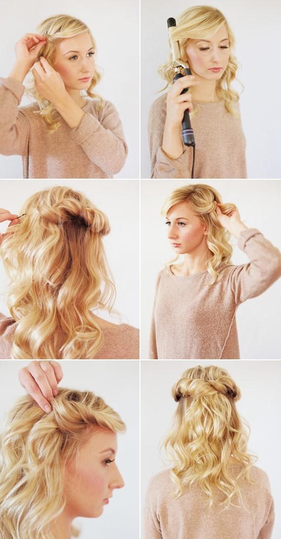 Half Up Half Down Hairstyles Tutorial: Loose Long Hairstyles