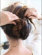 Loose Curled Chignon Hairstyle Tutorial: Women Hairstyles