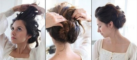 Loose Curled Chignon Hairstyle Tutorial: Women Hairstyles - PoPular Haircuts