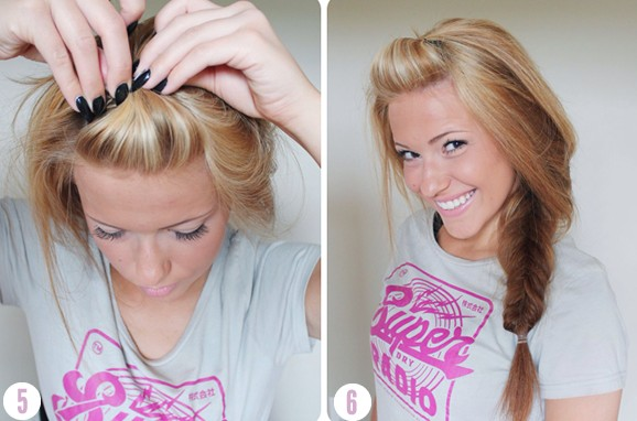 Side And Messy Fishtail Braid Tutorial Beach Hairstyles