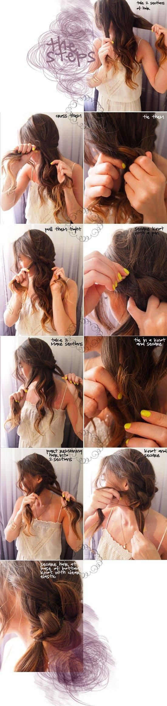 Messy Knot Frisur: Ferien Frisuren Tutorials