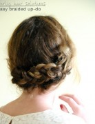 Simple Braided Updo Hairstyle Tutorial: Updos for Medium Hair