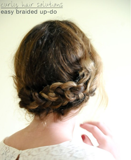 Simple Braided Updo Hairstyle Tutorial Updos For Medium Hair