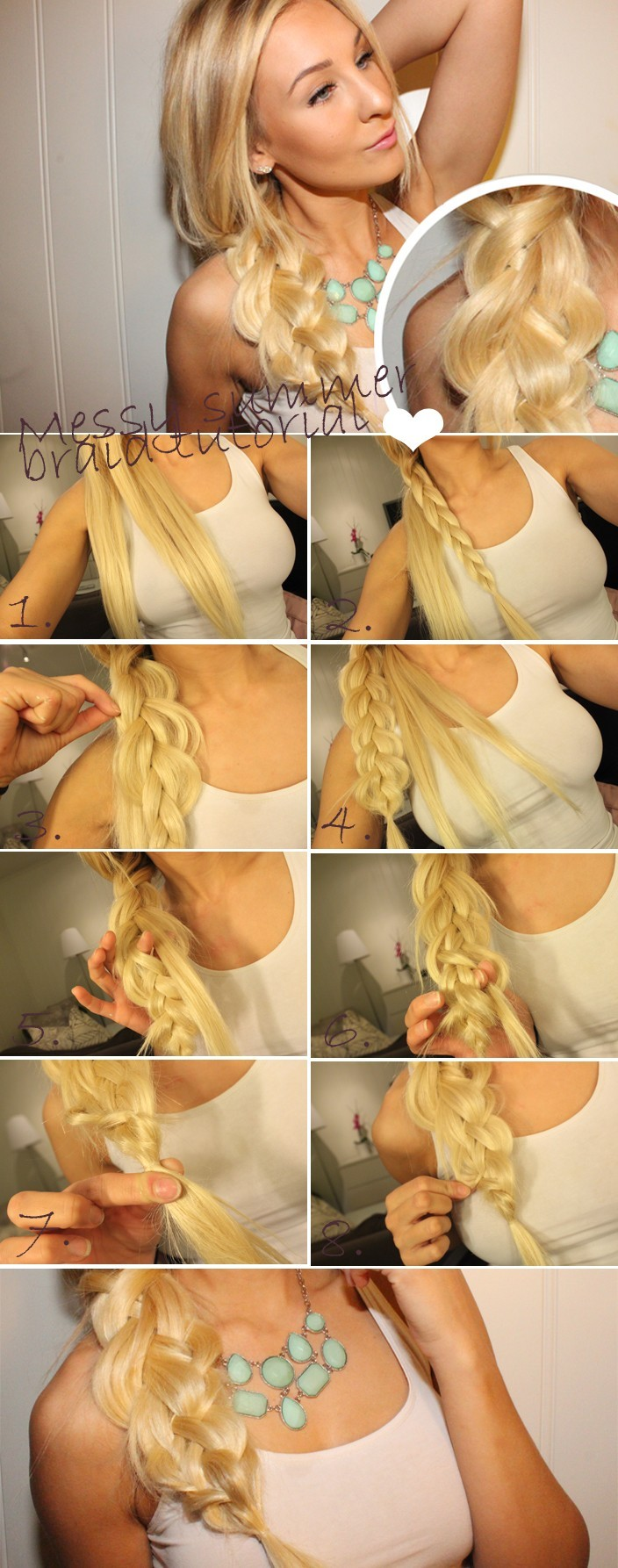 Magnificent Summer Hairstyles For Long Hair Messy Side Braided Hairstyle Short Hairstyles Gunalazisus