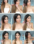 Twist Ponytail Hairstyle Tutorial: Side Ponytail Hair Styles for Girls