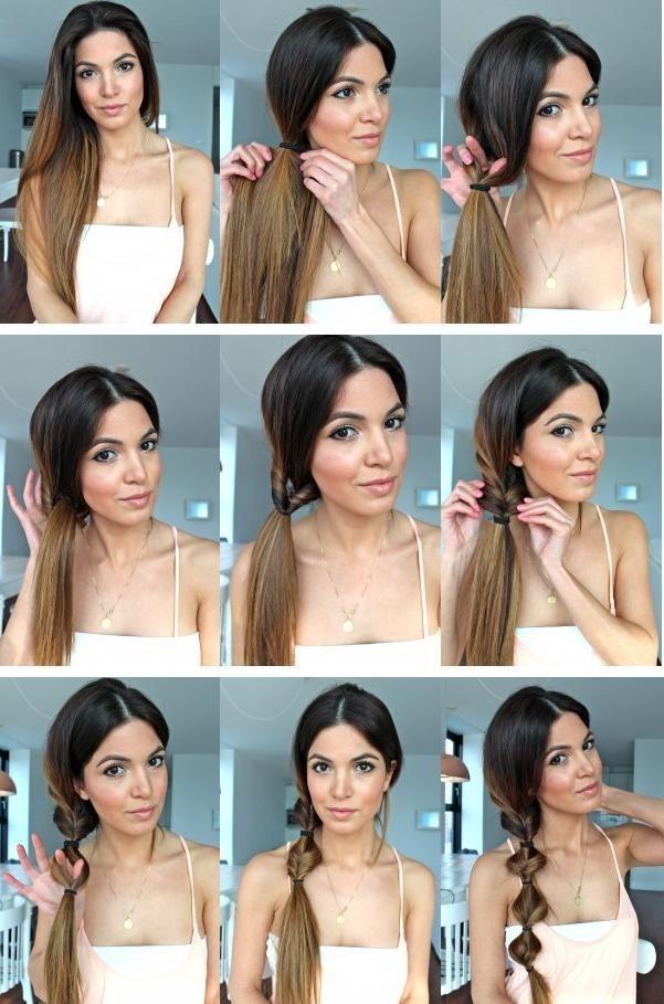 Remarkable Twist Ponytail Hairstyle Tutorial Side Ponytail Hair Styles For Hairstyles For Women Draintrainus