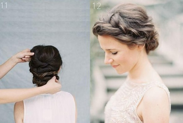 Twist Updo Hairstyles With Braids Wedding Tutorial