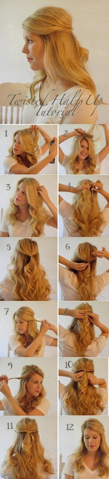 Twisted Half Up Half Down Hairstyle Ideas: Step By Step